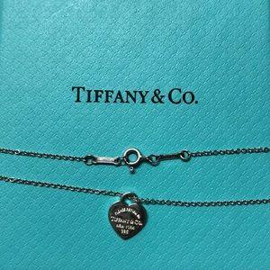 Authentic Tiffany Mini ♥️ Silver Necklace